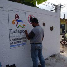 Gobierno de Tuxtepec rescata espacios en calles y cruceros que indebidamente son utilizados como basurero