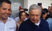 """""""Quiero mucho sinceramente al pueblo de Oaxaca"""", dijo AMLO su llegada"""