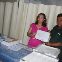 Presidenta DIF Tuxtepec recibe equipo de fortalecimiento a áreas de terapia física