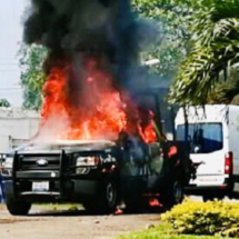 Incendian patrulla de la fuerza civil en Isla