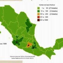 Suman 28 muertos por COVID-19 en México; hay más de mil casos confirmados