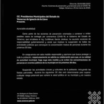 Tuxtilla aplica recomendaciones por Covid-19