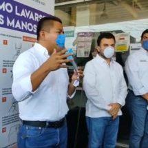 Dávila instala módulos de sanitización en terminal de autobuses y mercados de la ciudad