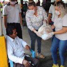 Entrega DIF de Cosamaloapan despensas a población vulnerable