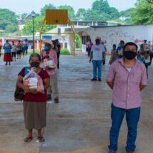 Avanza entrega de beneficios del Programa Social de Seguridad Alimentaria en Tuxtepec