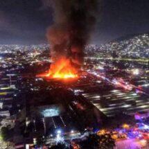 Continúan labores para sofocar el incendio en la Central de Abasto: CEPCO