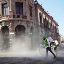 Protección Civil de Oaxaca realiza sanitización del Andador Turístico