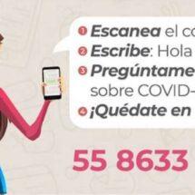 Mándale un Whats y chatea con Susana Distancia para saber todo del Covid-19