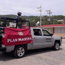 La Secretaría de Marina-Armada de México activa el plan marina en el istmo de Tehuantepec,Oaxaca