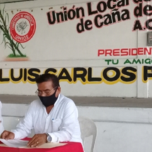 Ratifican a Luis Carlos Pérez al frente de la unión local de productores de caña del ingenio San Cristóbal
