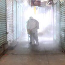 Mercado de Abasto cumple 3 días cerrado; hoy lo desinfectaron