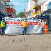 Gobierno de Tuxtepec continúa operando filtros sanitarios y entrega de cubrebocas
