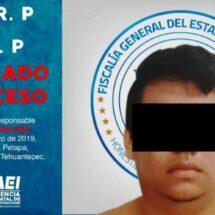 Aprehenden y vinculan a proceso a probable integrante de célula criminal que operaba en Matías Romero