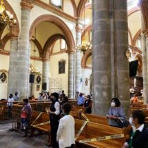 Después de 23 semanas, reinician misas en la catedral de Oaxaca