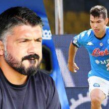 El peculiar elogio de Gennaro Gattuso a 'Chucky' Lozano