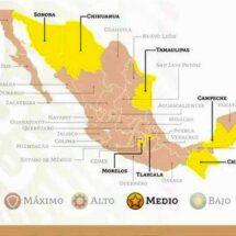 Ubican a 24 estados en semáforo naranja Oaxaca entre ellos y 8 en amarillo