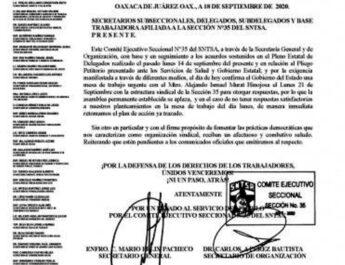 Aplazan instalación de asamblea permanente en los Servicios de Salud de Oaxaca