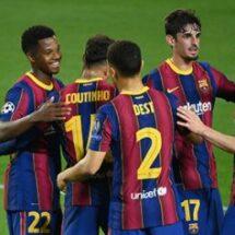 Barcelona se presenta en la Champions con goleada
