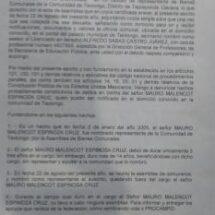 Comuneros desconocen a autoridad agraria de Teotongo