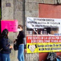 A pesar de cumplir sus demandas y acuerdos con el gobierno estatal, sindicalizados de Salud reanudan protestas
