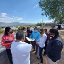 Visita Karla Villacaña construcción del Complejo Cultural en Huajuapan