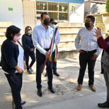 Entrega Ayuntamiento de Oaxaca nuevos sanitarios a Jardín de Niños de Guadalupe Victoria