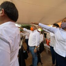 Héctor Montes toma protesta como candidato a Diputado federal por Tuxtepec