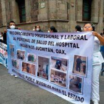 «Fuimos engañados para levantar el plantón»: Denuncian médicos del Istmo